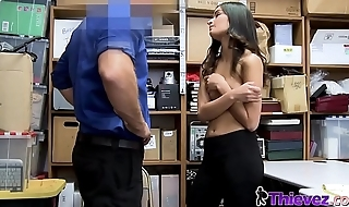 Emily gets her cunt deeply drilled by officers big cock