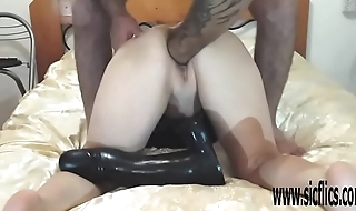 XXL pussy fisting and colossal dildo insertions