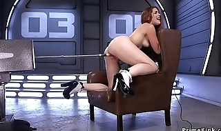 Big ass redhead fucking machine
