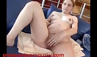 Pregnant white chick fucked in pussy and ass by white cock
