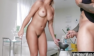 Housekeeper Mercedes Carrera mill on two BBC brothers