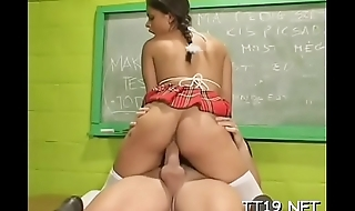 Filty schoolgirl gets love tunnel fingered and drilled hard
