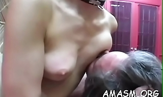 Lewd women sharing one-eyed monster in female snag a grasp at xxx