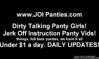 Let me model my new panties for you JOI