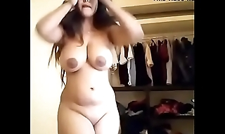 Sexy BBW with potholed boobs solo
