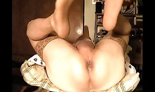 Friday morning stockings and anal dildo