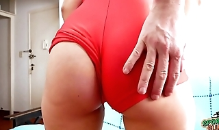 Most PERFECT CAMELTOE Teen In Tight Spandex GRIDGIRL Suit
