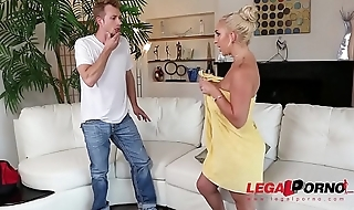Sultry blondie Nina Kayy needs her tight asshole filled with big veiny cock GP338