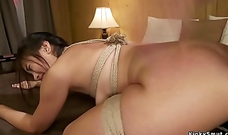 Mistress spanks increased by anal fucks babe