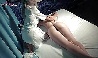 Lesbo Oil Massage and Horny Orgasm Play